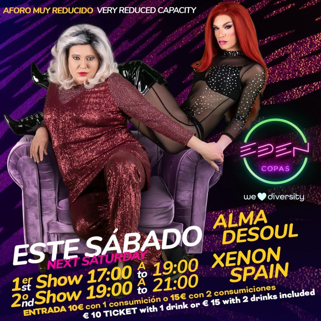 Sábado Xenon Spain Show Eden Copas